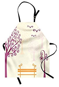 202x300 Nature Apron By Ambesonne, Pastel Color Nature Picture