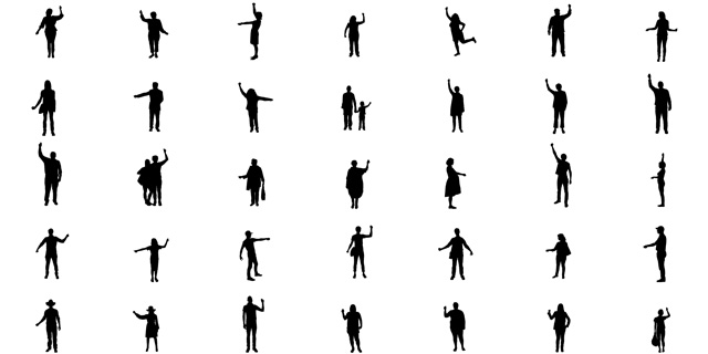 Silhouette Party People