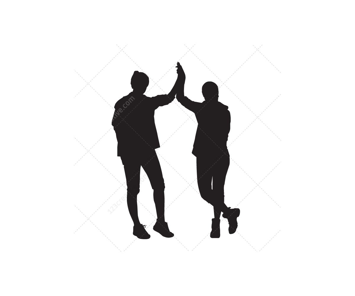 1200x1000 Young People Vector Silhouettes