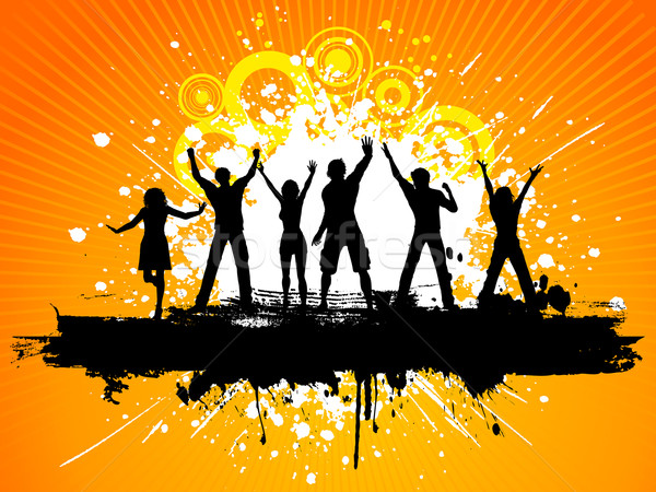 600x450 Grunge Party People Vector Illustration Kirsty Pargeter