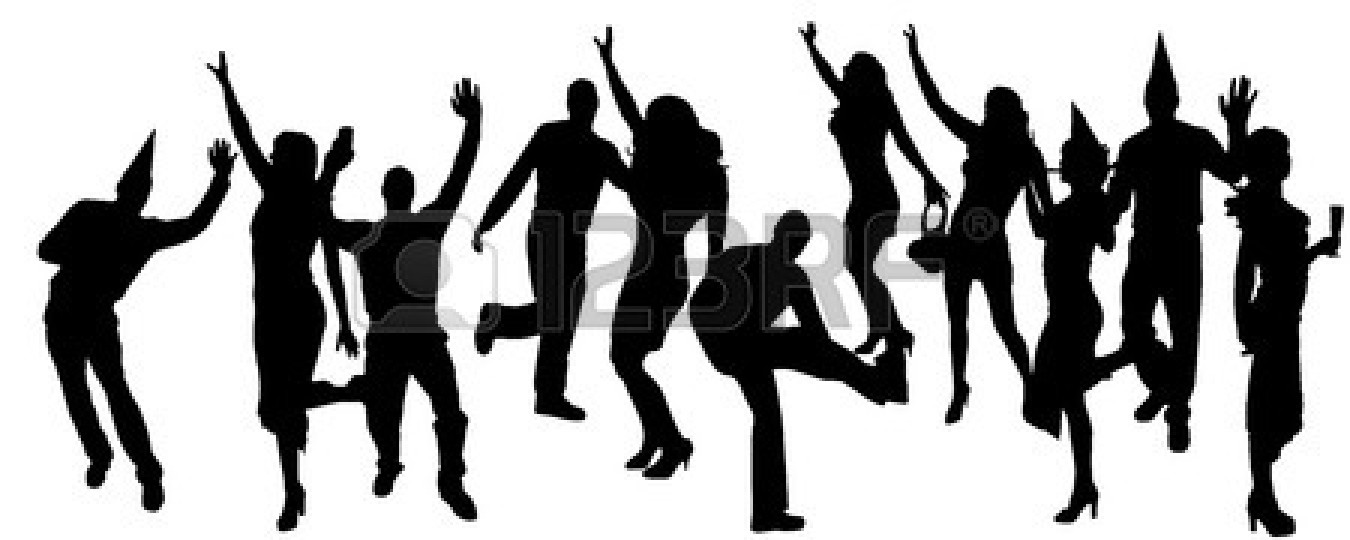 1350x540 Party People Black Silhouette Clipart Panda