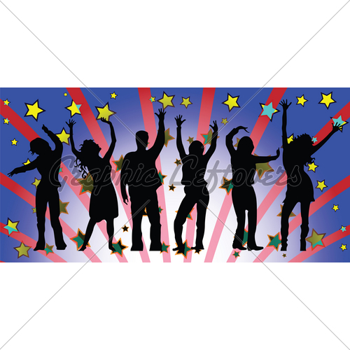 500x500 Party People Silhouettes.jpg Clipart Panda