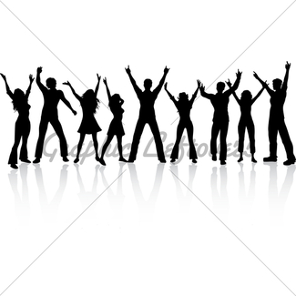 325x325 Party People And Mosaic Background Gl Stock Images