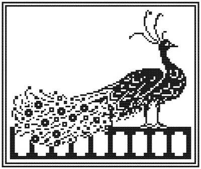 400x337 Peacock Silhouette Peacock, Cross Stitch And Silhouette