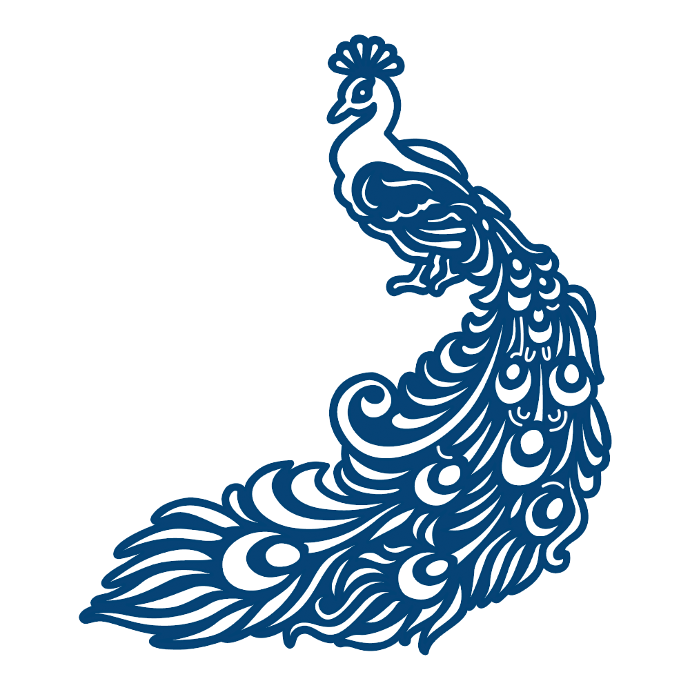 1000x1000 Peacock Tattered Lace Vector