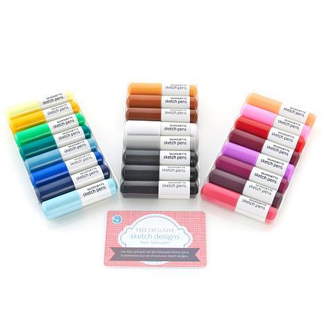 466x466 Silhouette 24 Piece Sketch Pen Starter Pack
