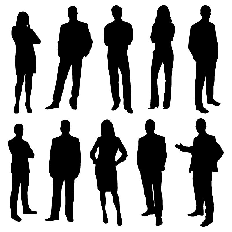 800x800 Office Business People Silhouettes