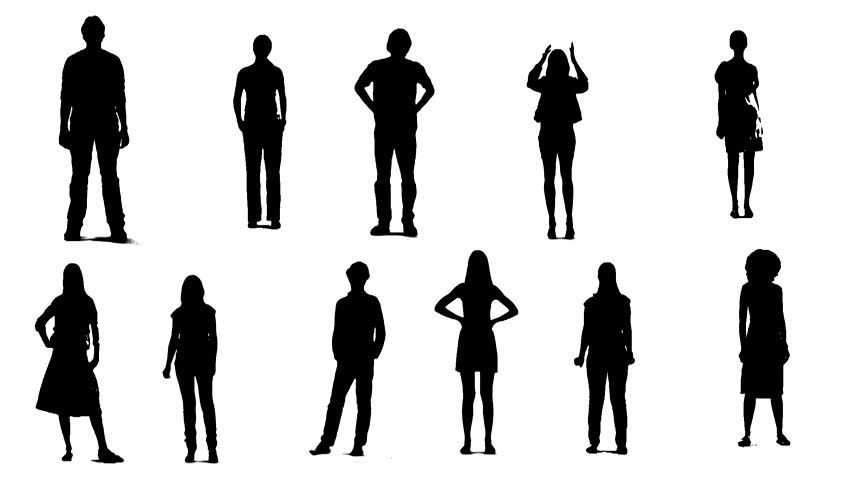 852x480 People Silhouette Free Video Clips