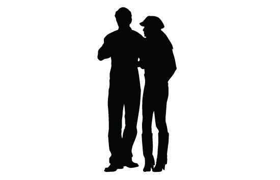 550x354 Silhouette Vector Free Man Woman And Man Silhouette Vector Free