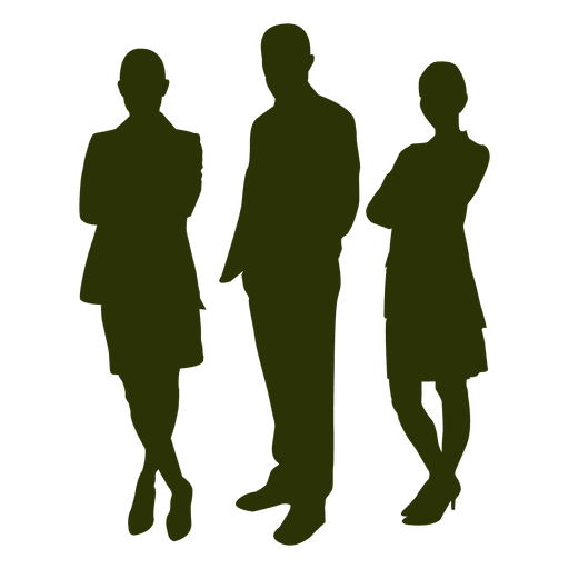 512x512 Business People Silhouette