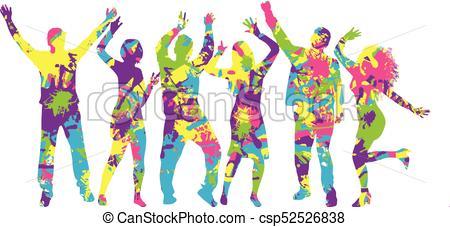 450x227 Dancing People Silhouettes. Vector Work. Vectors