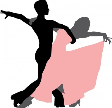 383x368 Free Silhouettes Of Dancing People Free Vector Download (10,707