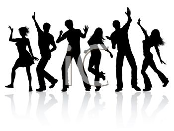 350x263 Silhouette Of Young People Dancing