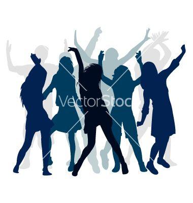 380x400 Silhouette People Dance Vector 822682
