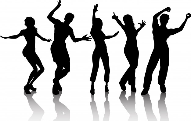 626x395 Silhouettes Of People Dancing Vector Free Download