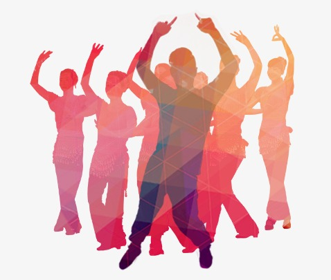 478x405 Square Dance Silhouettes People Color, Silhouette Figures, Dancing
