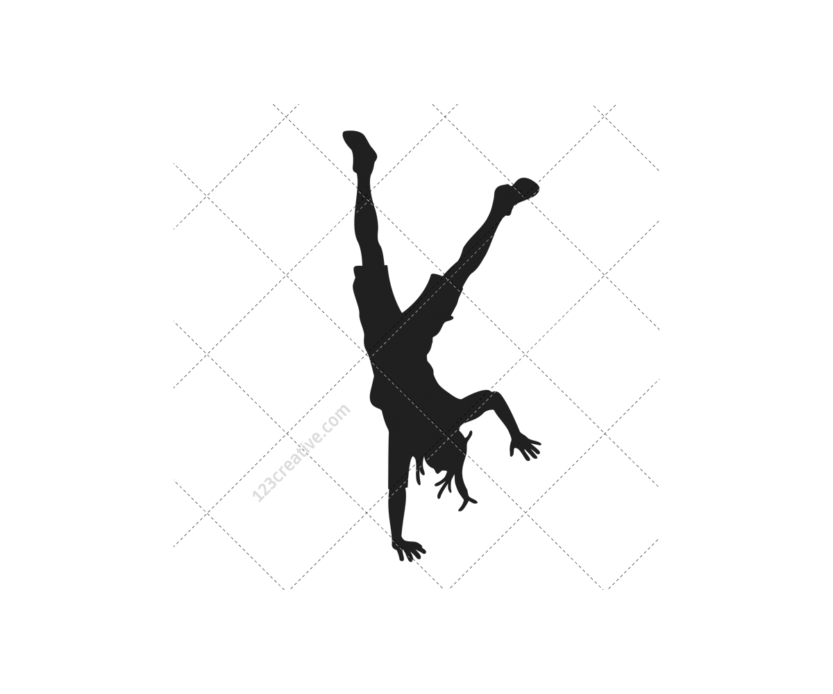 1200x1000 Breakdance Silhouettes Vector Pack