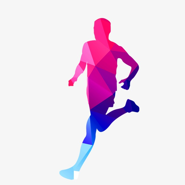 650x650 Color Silhouettes Of People Running, Color, Run, Sketch Png