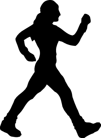 326x445 Silhouette People Walking Clipart