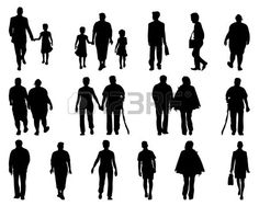 236x188 Free Vector Silhouettes Of People Standing, Sitting, Walking