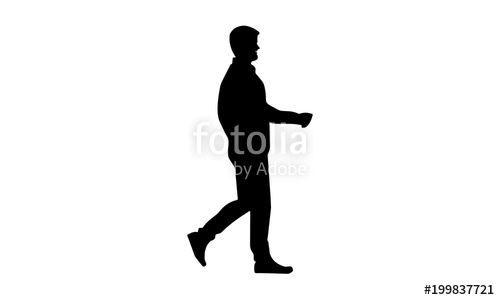 500x300 Vector Silhouette Of Young People Walking Stock Image And Royalty