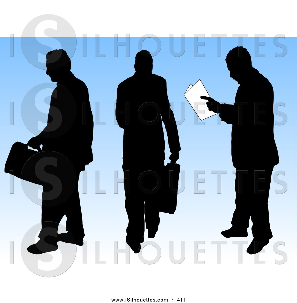 1024x1044 Silhouette Clipart Of A Trio Of Black Silhouetted Businessmen