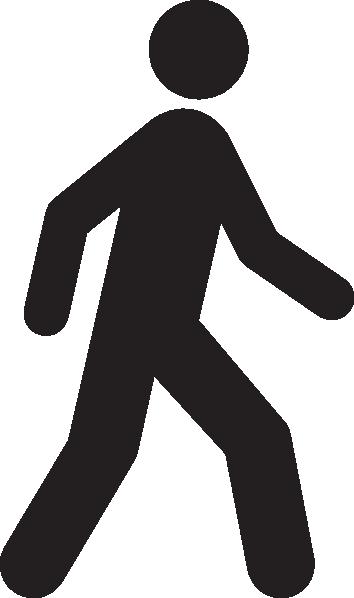 354x598 Clipart No Walking