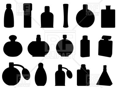 400x300 Perfume Bottle Silhouettes Royalty Free Vector Clip Art Image