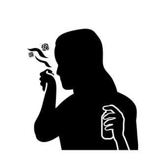 340x340 Free Silhouette Vector 1 This, Roses, Icon, Up