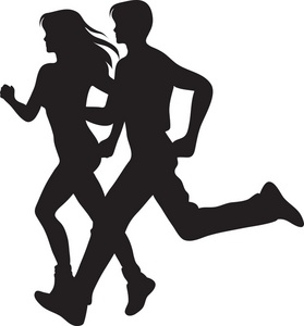 279x300 Person Running Away Silhouette Clipart