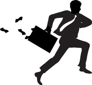 300x278 Person Running Money Clipart Image Embezzler Running