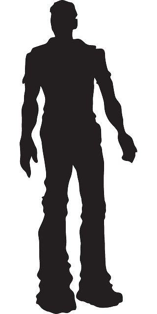320x640 Man, Silhouette, Male, Person, Standing, Pose