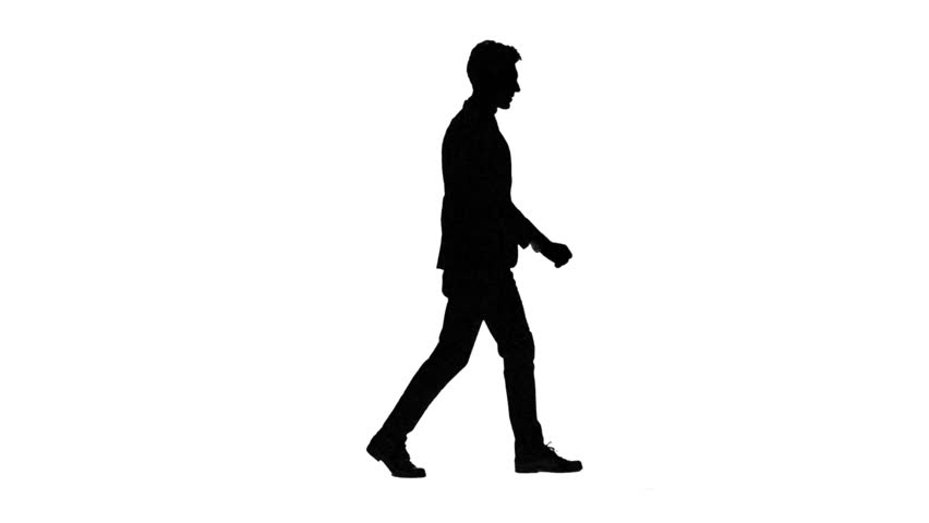 Silhouette Person Walking