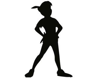 340x270 Peter Pan Silhouette Sticker Etsy