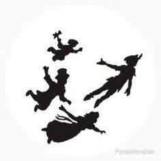 236x236 Window Wall Display Peter Pan Amp Wendy Flying Silhouette Decal