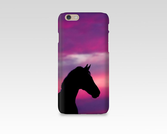 570x456 Horse Phone Case, Iphone 7 Case, Sunset, Silhouette, Samsung S7