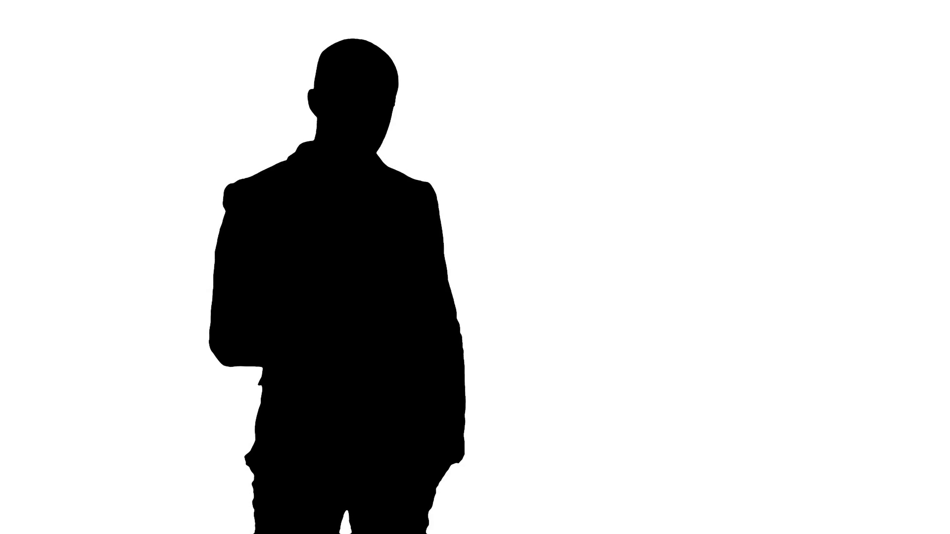1920x1080 Silhouette Arab Business Man Talking On The Mobile Phone Stock