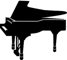 Silhouette Piano Player