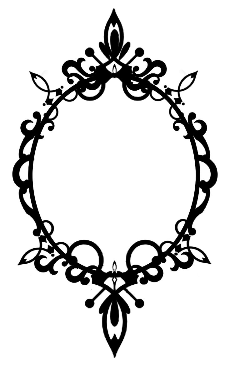 736x1177 Oval Frame Clipart Black And White Collection