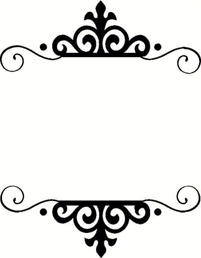 400x514 Round Vintage Silhouette Cameo Frame Clipart Monogram Collection