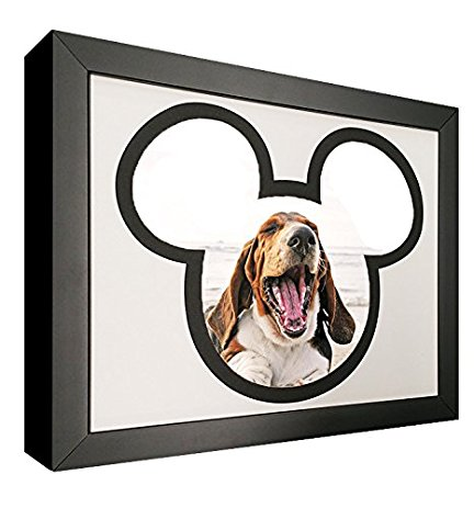 432x463 Mouse Silhouette Picture Frame With Black And White