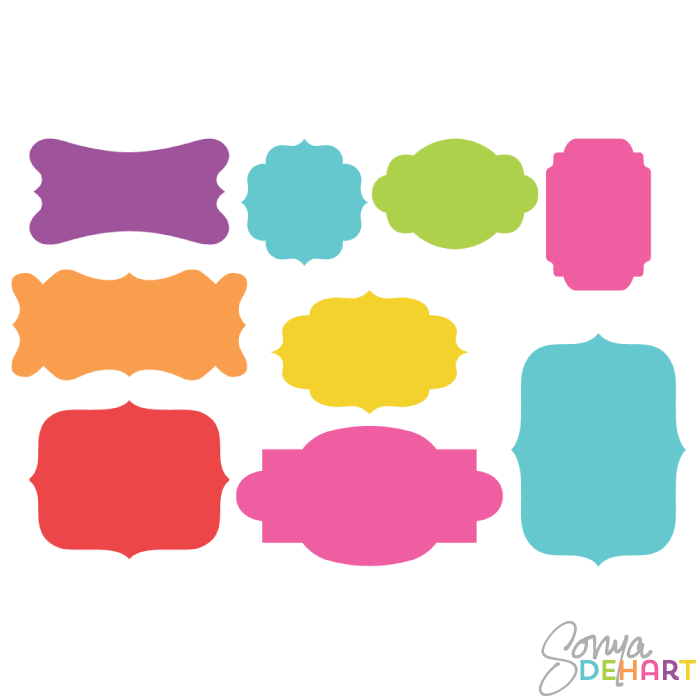 700x700 Clip Art Bright Silhouette Frame Labels