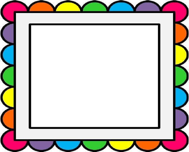 640x513 Rainbow Border Pano Rainbows, Clip Art And Scrapbook