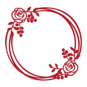 300x300 Round Floral Frame Silhouette Design, Silhouettes And Rounding