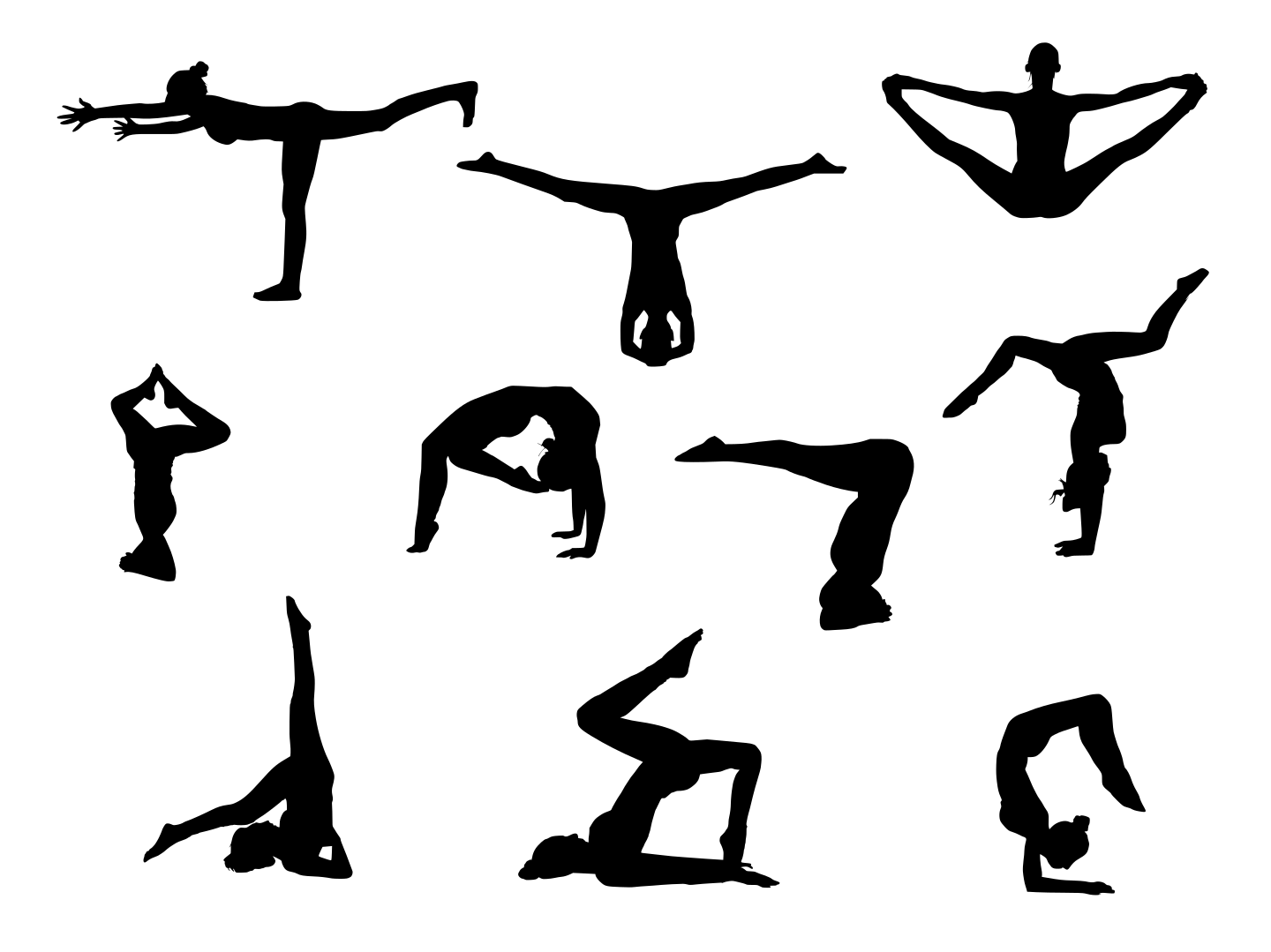 1440x1079 10 Yoga Silhouette (Png Transparent)