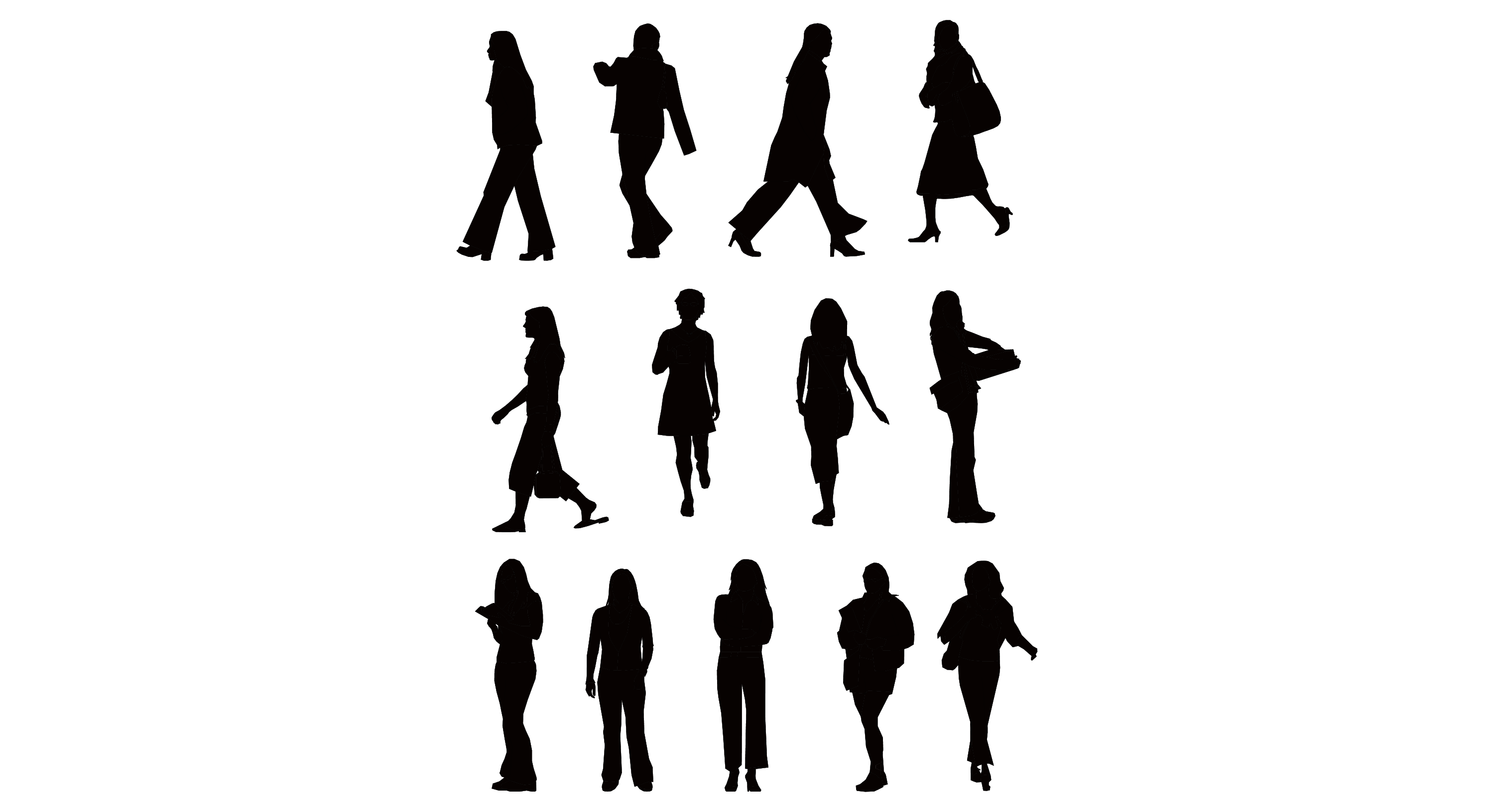 3000x1631 14 Plan View Person Silhouette Vector Images