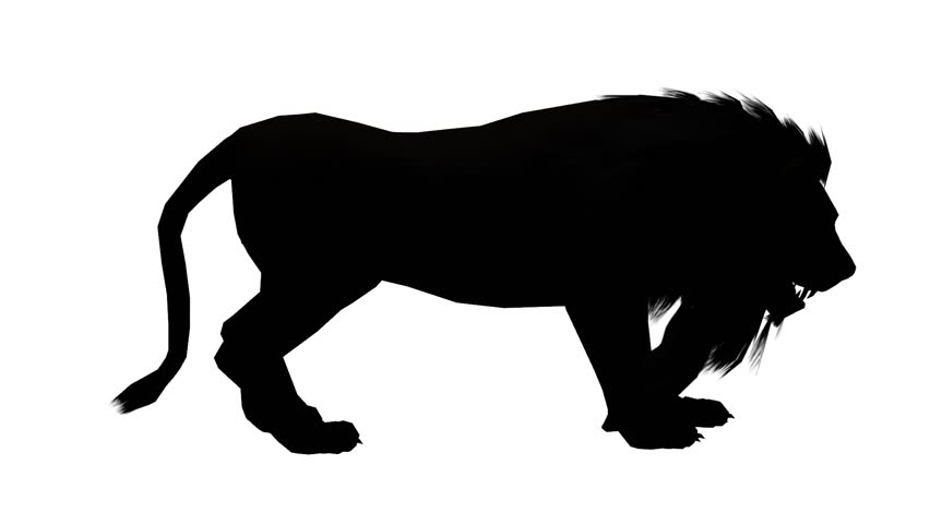 852x480 Tiger Running Sketch Silhouette,wildlife Animals Habitat. Cg 02098