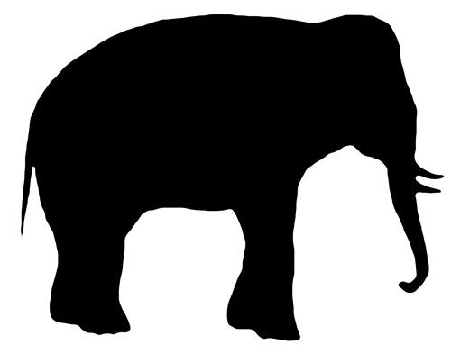 500x393 Animal Silhouettes Elephant Silhouette, Silhouettes And Google