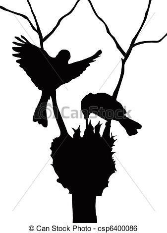 337x470 Birds Family Silhouette. The Silhouette Of Lovely Birds Clip