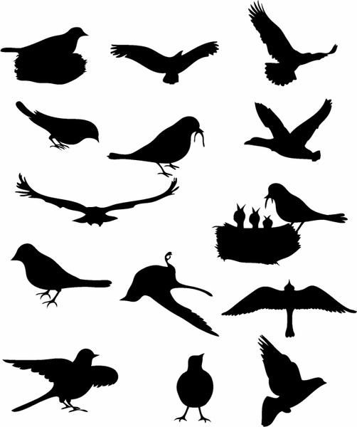 502x600 Flying Birds Silhouette Pdf Free Vector Download (8,881 Free